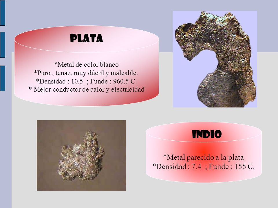 PLATA indio *Metal parecido a la plata