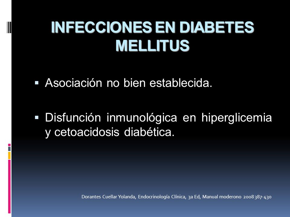 INFECCIONES EN DIABETES MELLITUS