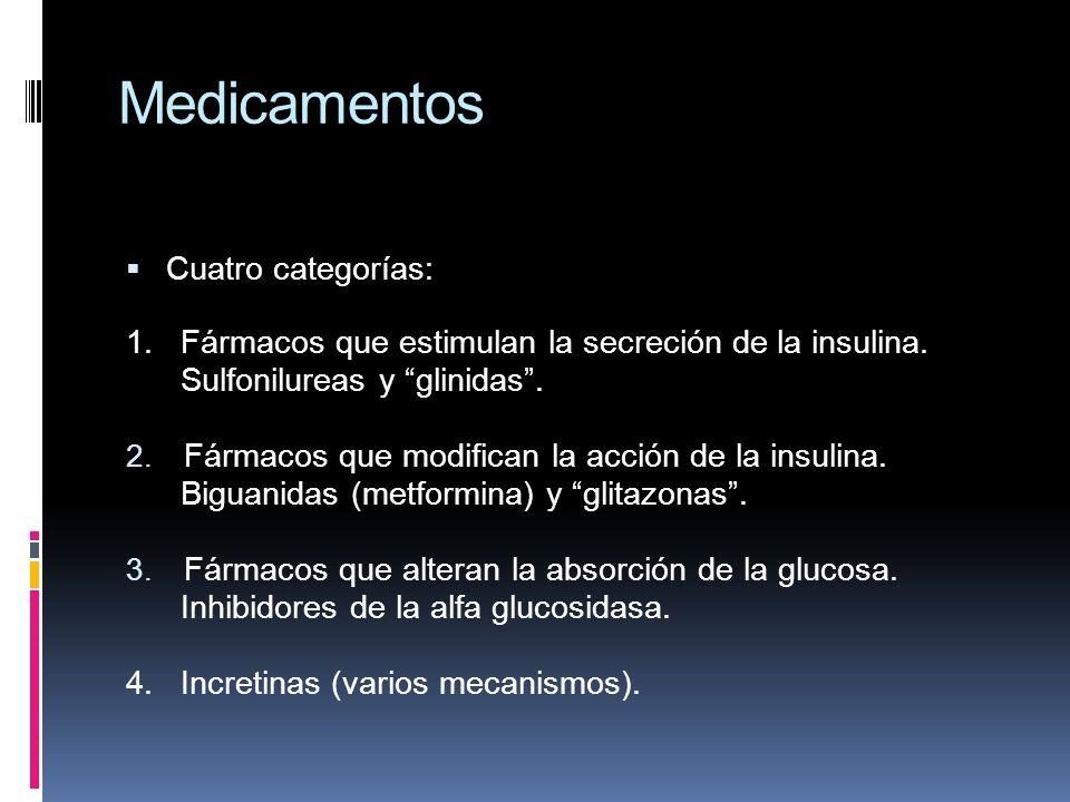 Medicamentos Cuatro categorías: