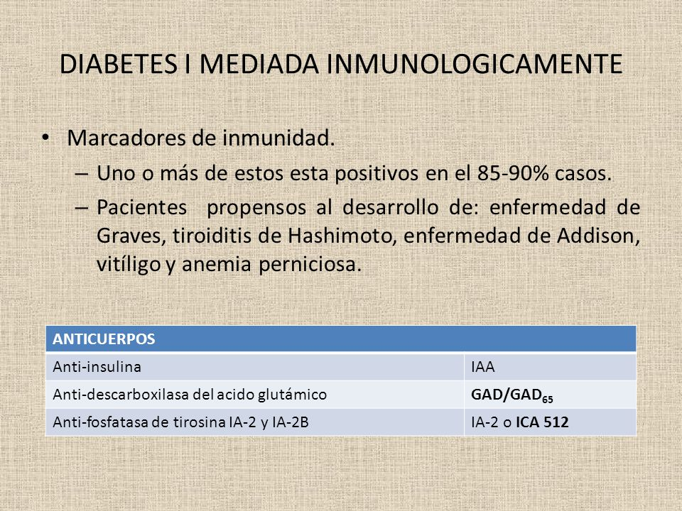 DIABETES I MEDIADA INMUNOLOGICAMENTE