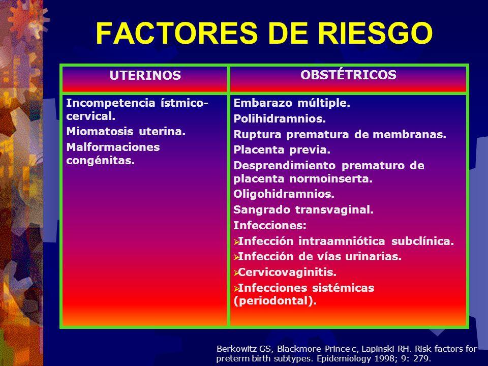FACTORES DE RIESGO UTERINOS OBSTÉTRICOS