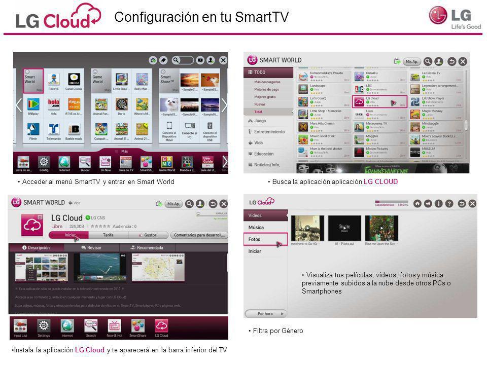 Configuración en tu SmartTV