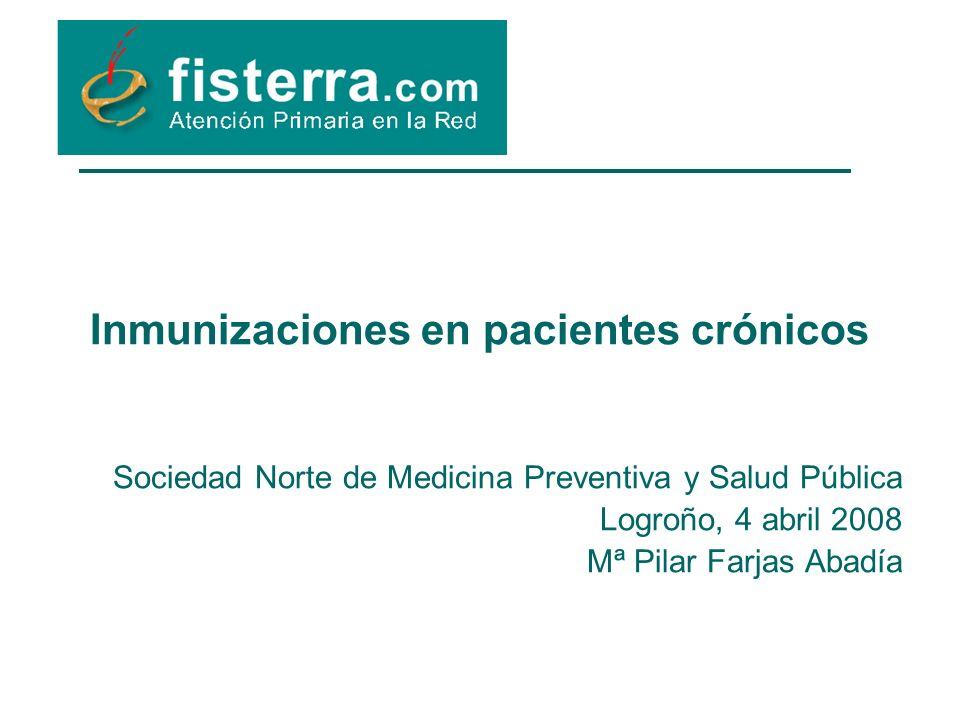 Inmunizaciones en pacientes crónicos