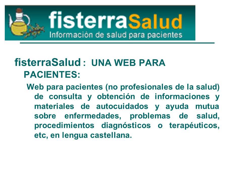 fisterraSalud : UNA WEB PARA PACIENTES: