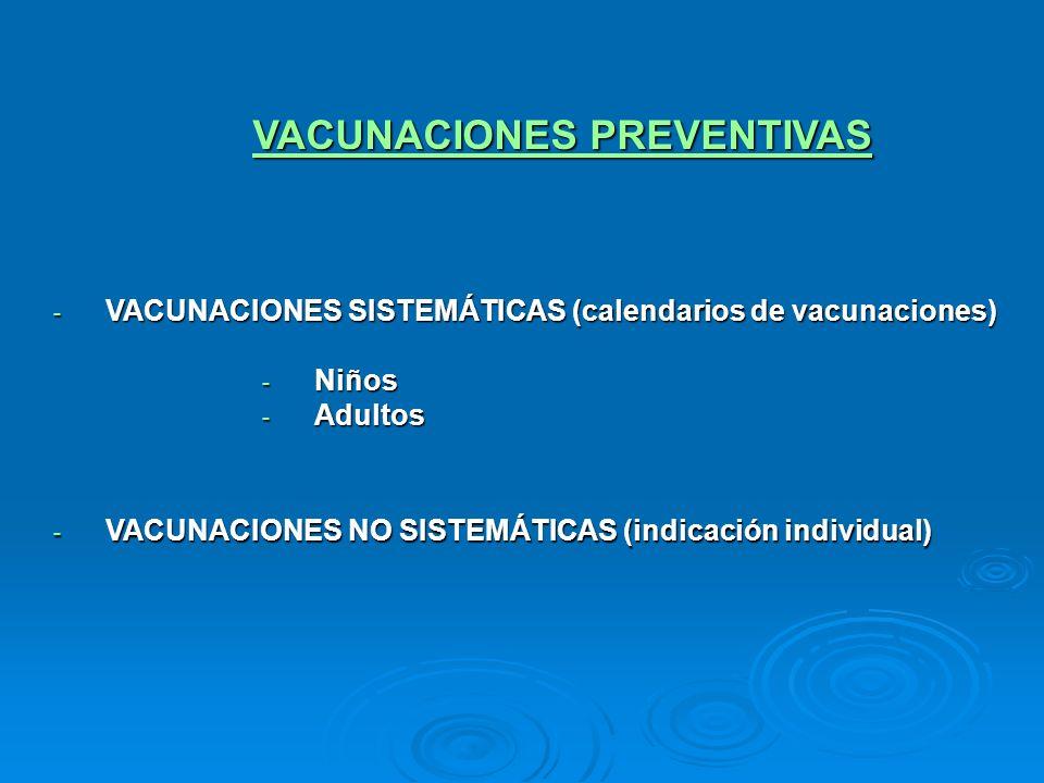 VACUNACIONES PREVENTIVAS