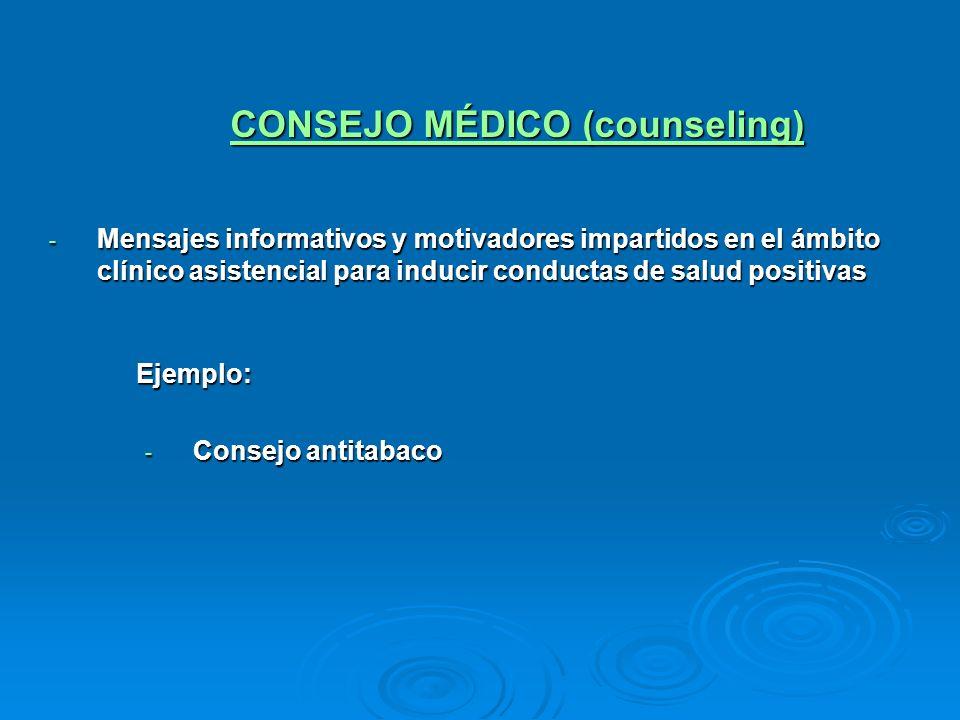 CONSEJO MÉDICO (counseling)
