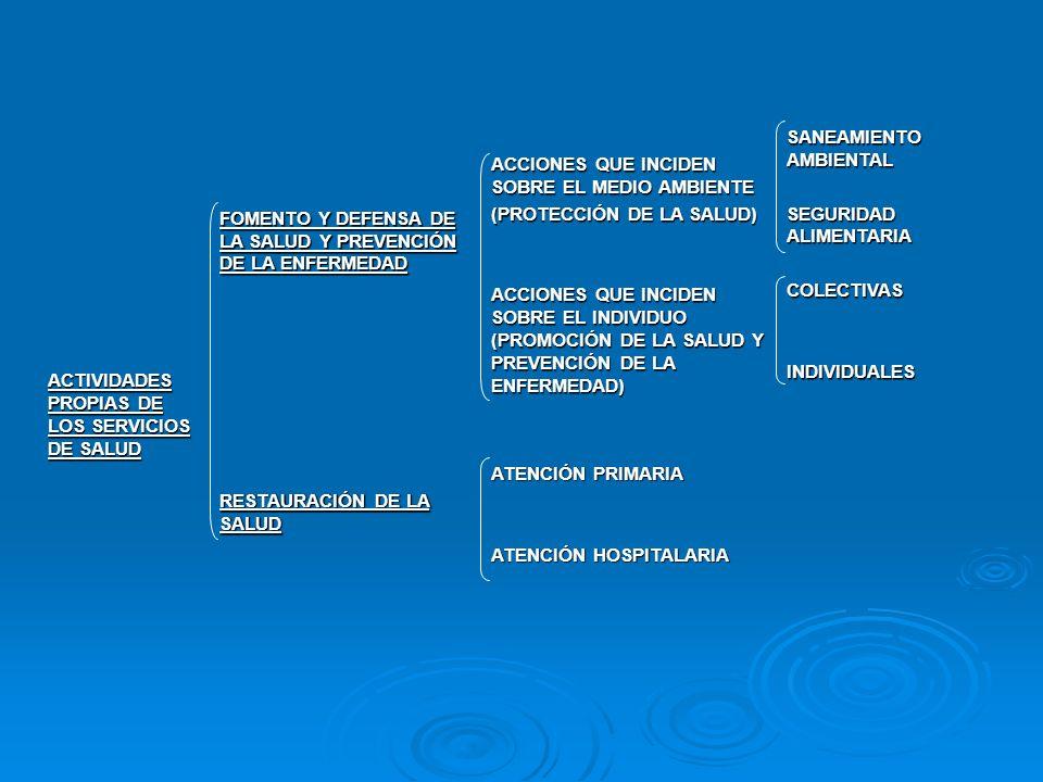 ACTIVIDADES PROPIAS DE LOS SERVICIOS DE SALUD