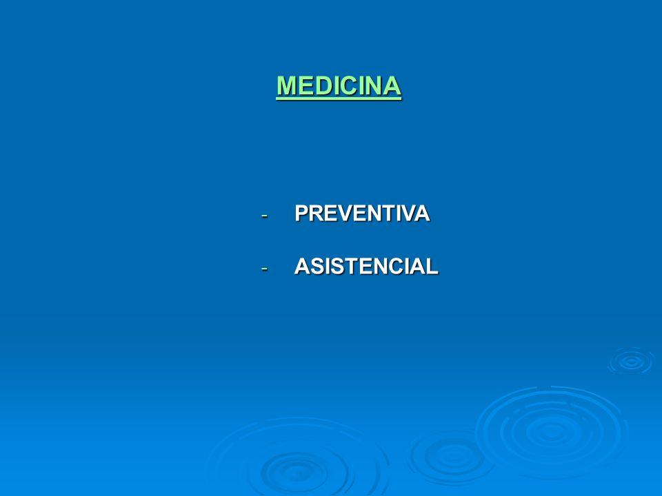 MEDICINA PREVENTIVA ASISTENCIAL