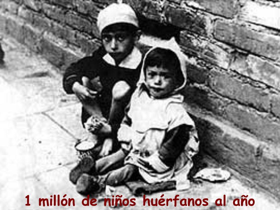 1 millón de niños huérfanos al año