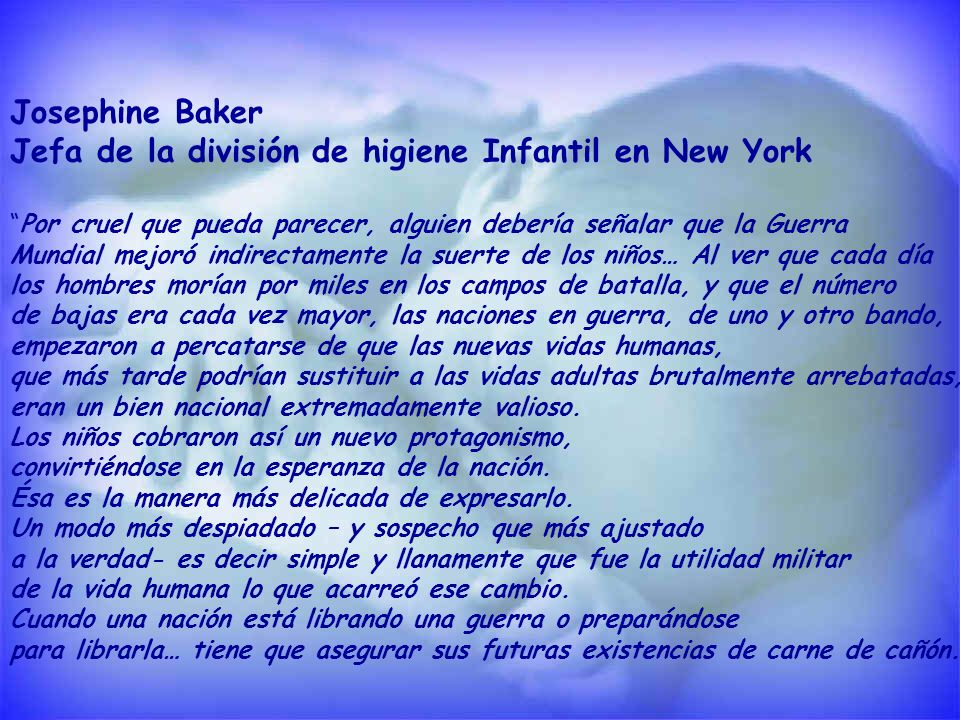 Jefa de la división de higiene Infantil en New York