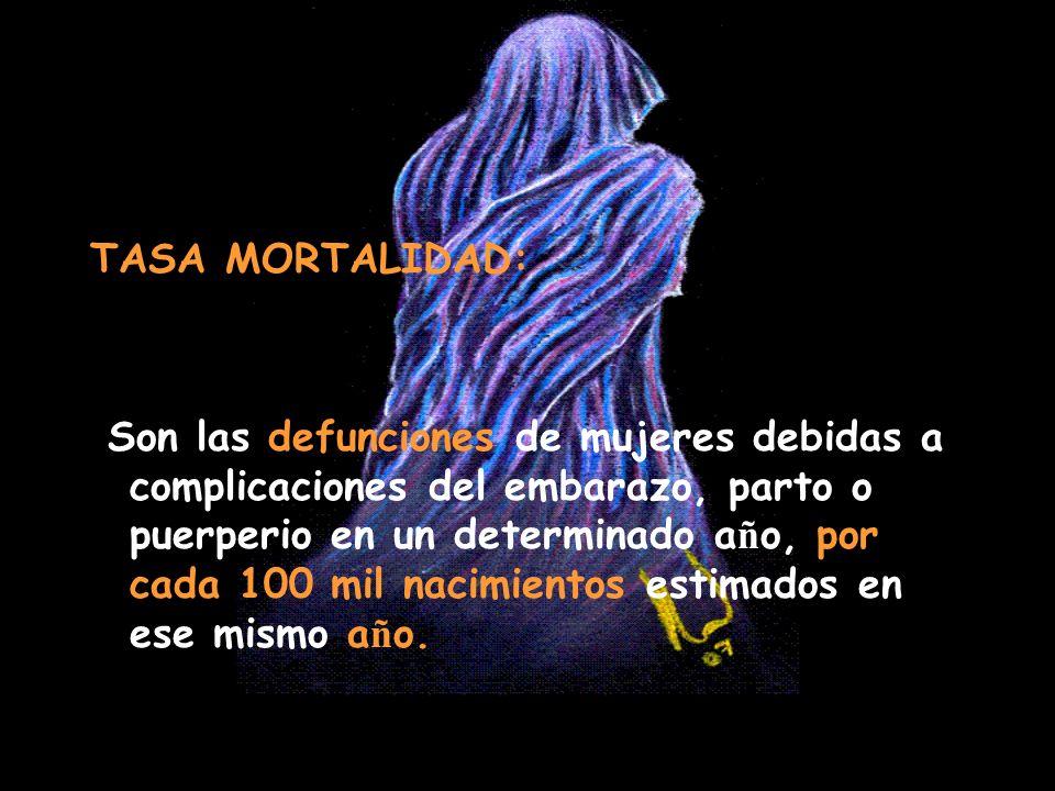 TASA MORTALIDAD: