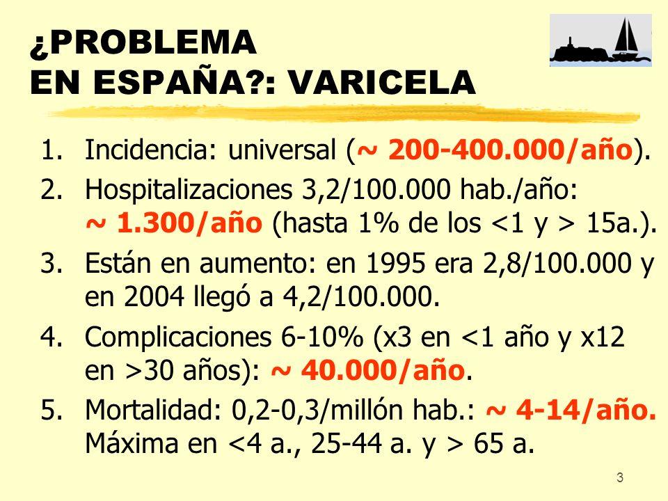 ¿PROBLEMA EN ESPAÑA : VARICELA