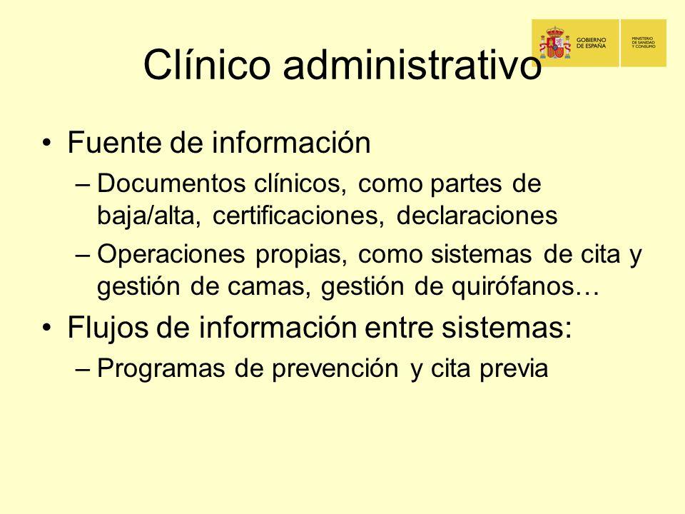 Clínico administrativo