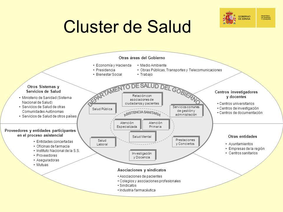 Cluster de Salud Otras áreas del Gobierno