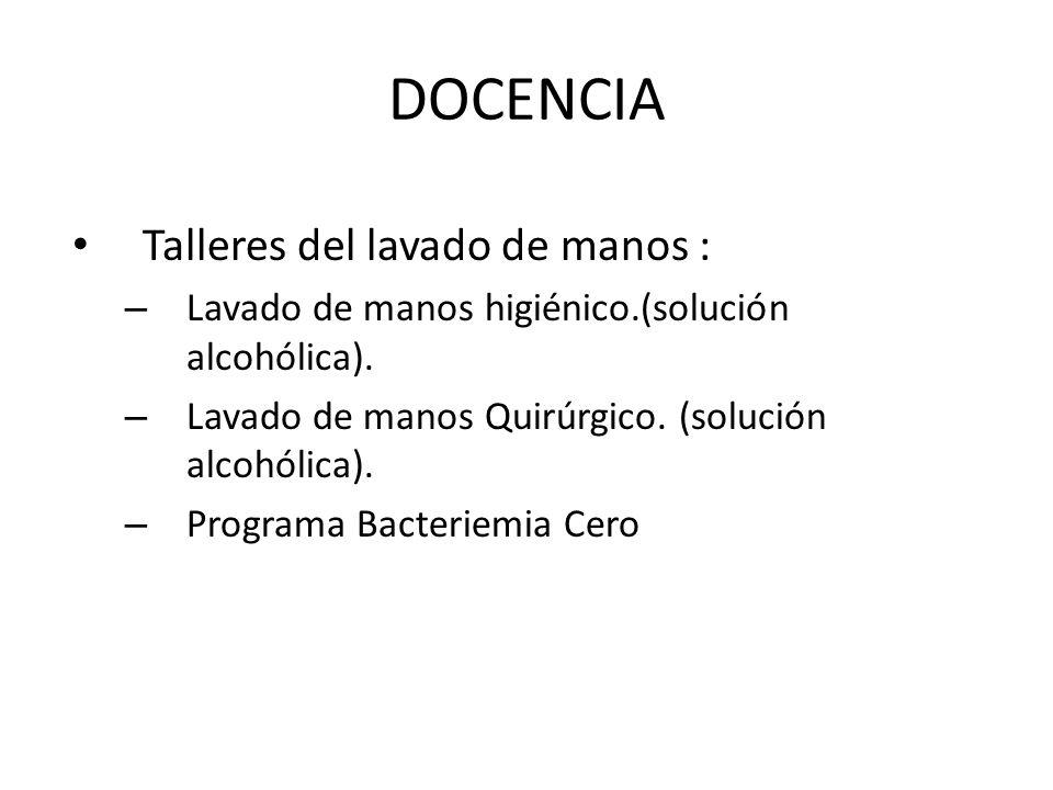DOCENCIA Talleres del lavado de manos :