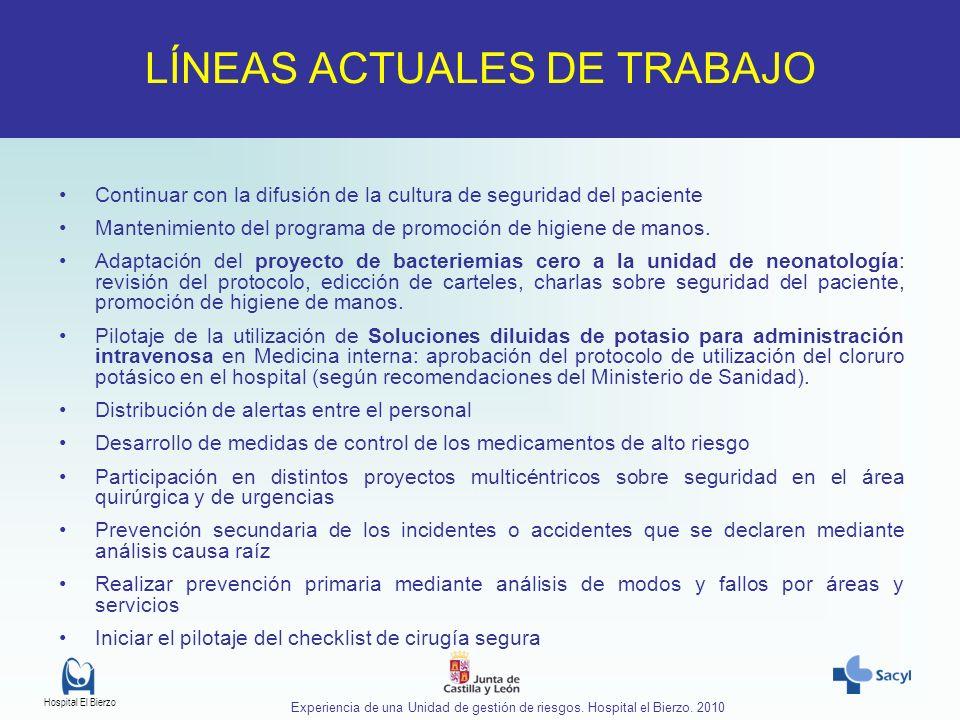 LÍNEAS ACTUALES DE TRABAJO