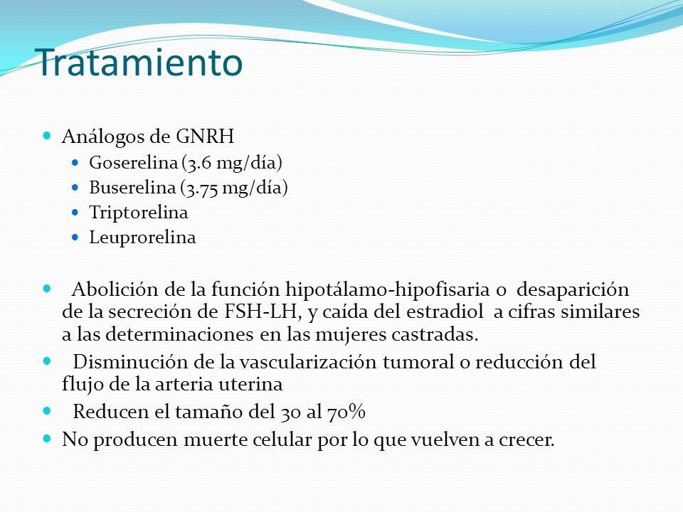 Tratamiento Análogos de GNRH