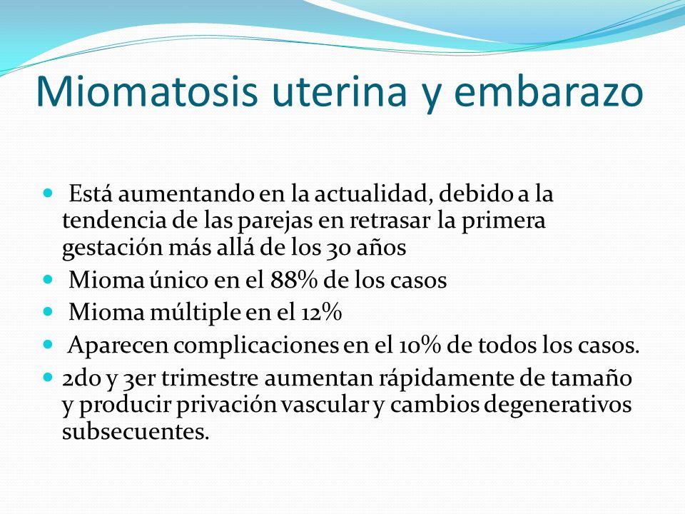 Miomatosis uterina y embarazo