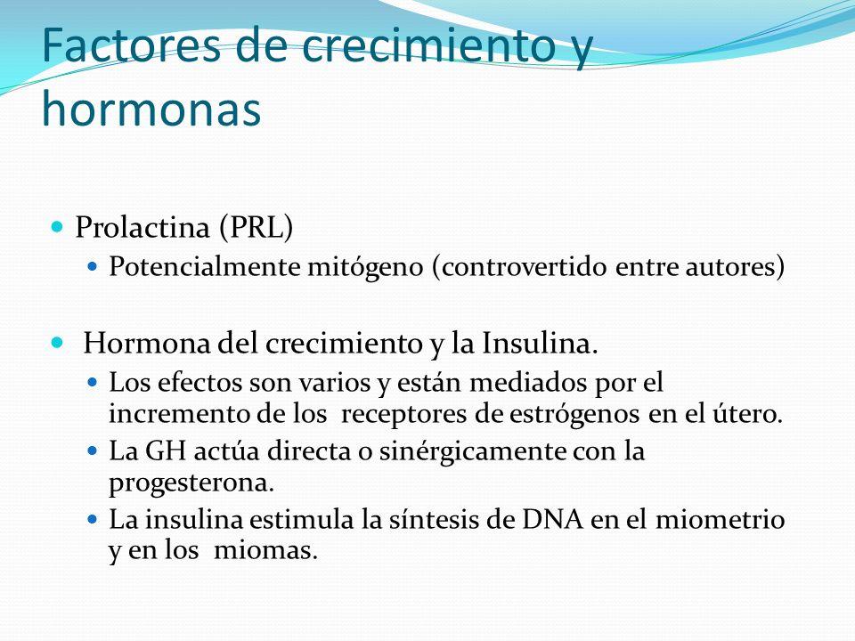 Factores de crecimiento y hormonas