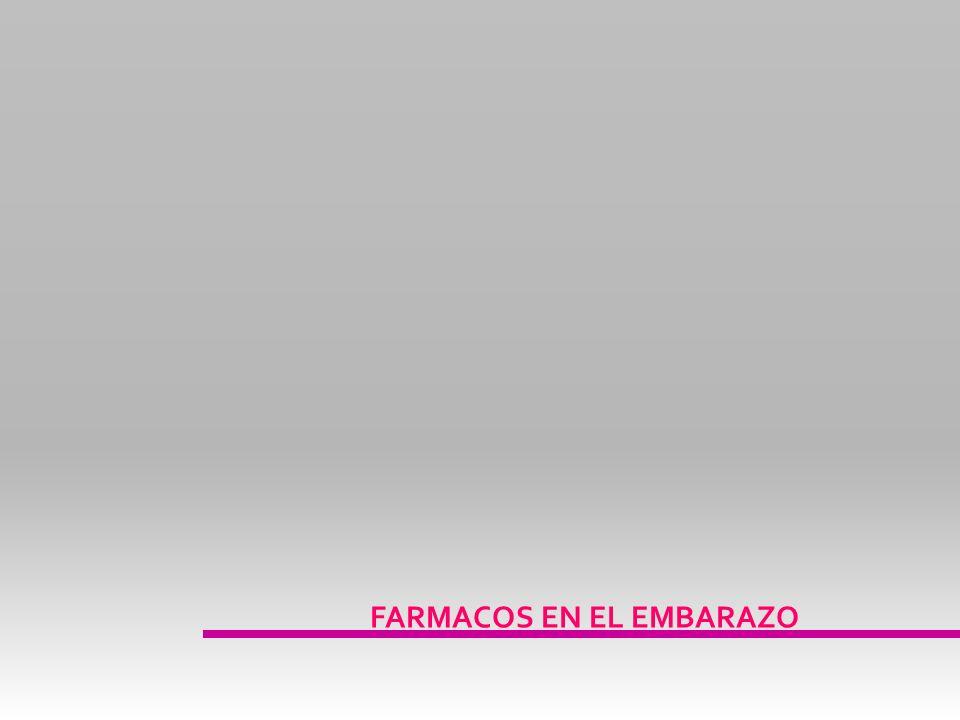FARMACOS EN EL EMBARAZO