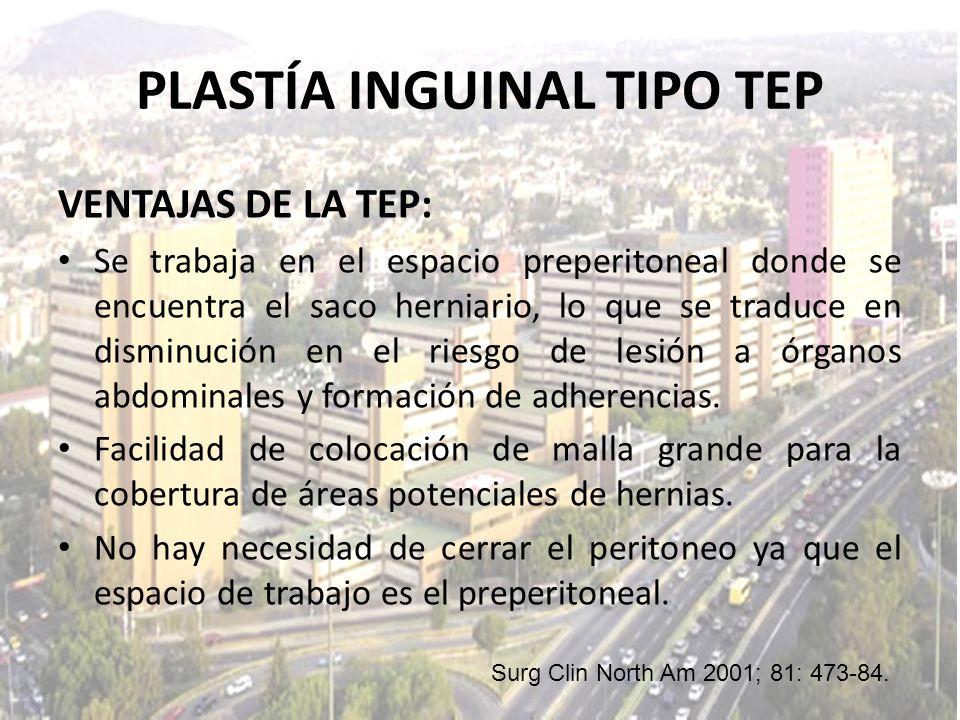 PLASTÍA INGUINAL TIPO TEP