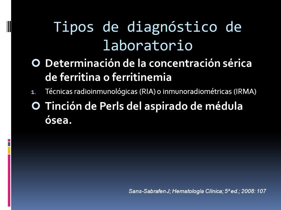 Tipos de diagnóstico de laboratorio