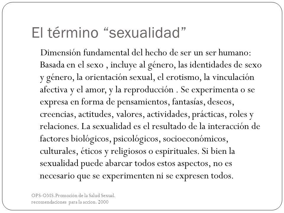 El término sexualidad