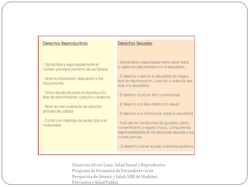 Mazarrasa Alvear Lucia. Salud Sexual y Reproductiva