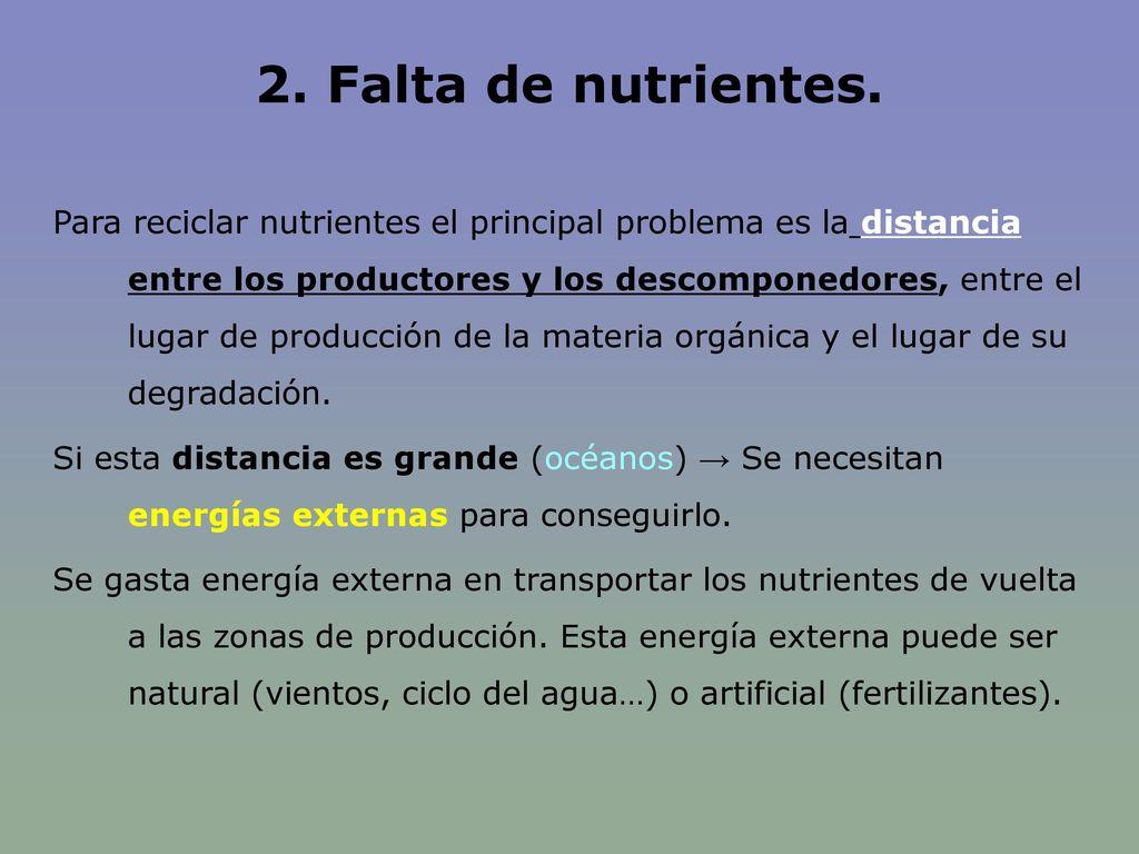 2. Falta de nutrientes.
