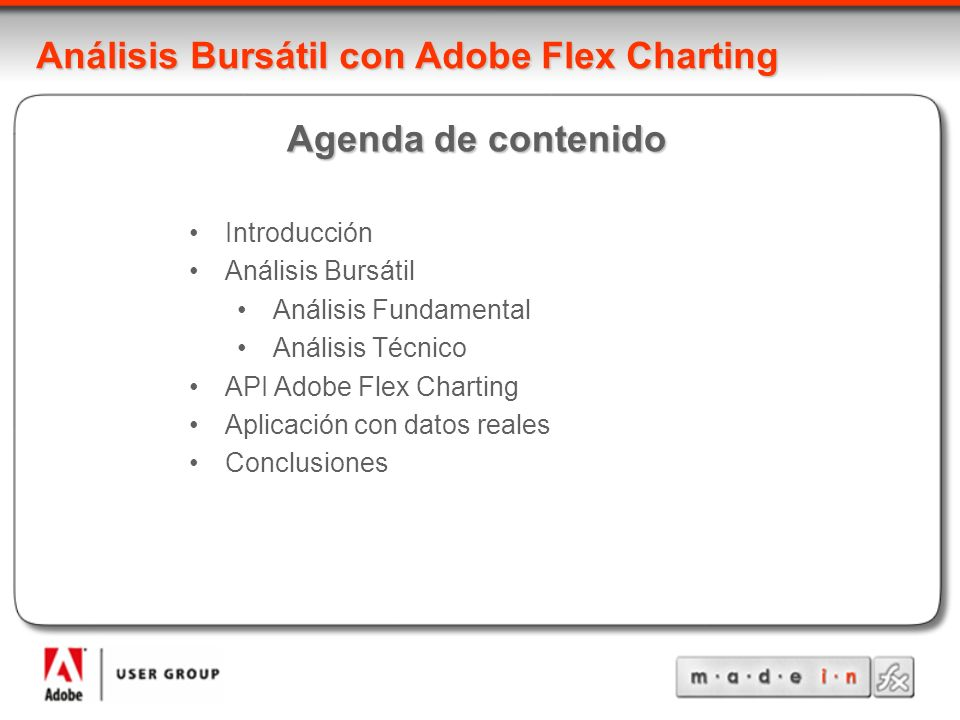 Análisis Bursátil con Adobe Flex Charting