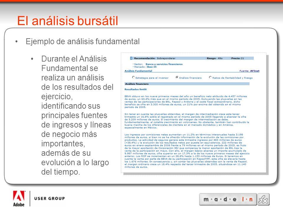 El análisis bursátil Ejemplo de análisis fundamental