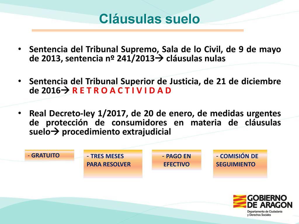 D a mundial de los derechos del consumidor 2017 for Clausula suelo mayo 2013
