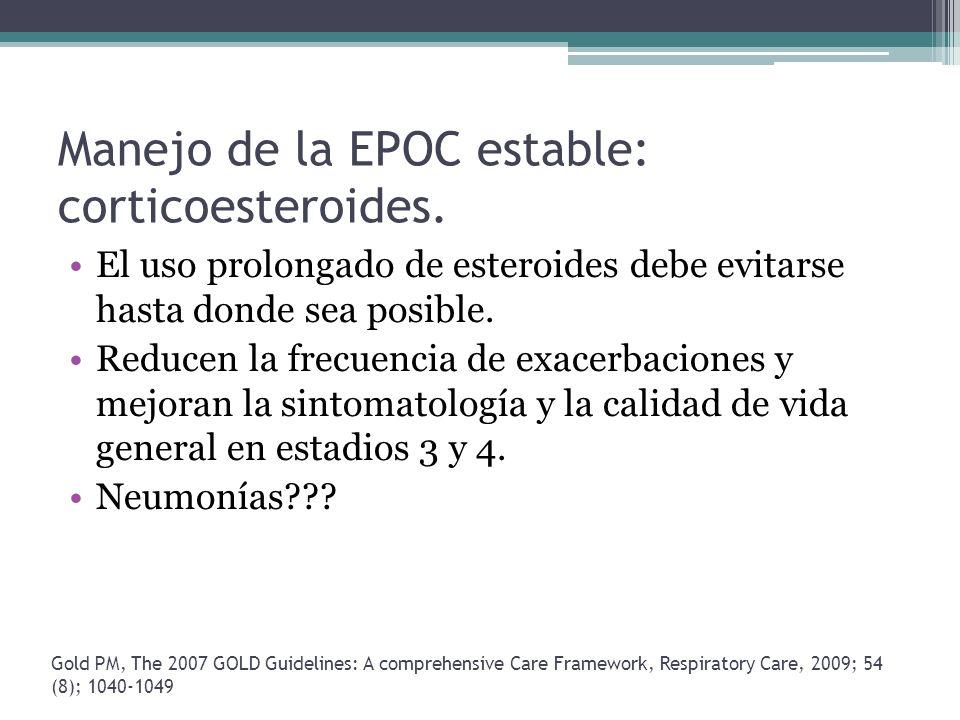 Manejo de la EPOC estable: corticoesteroides.
