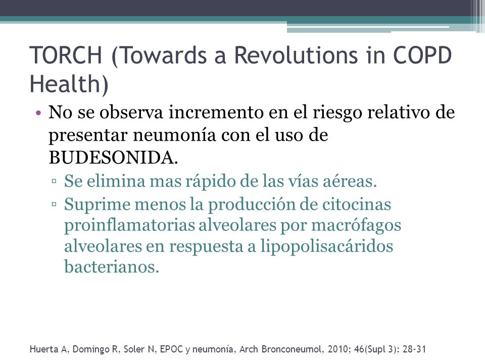 TORCH (Towards a Revolutions in COPD Health)
