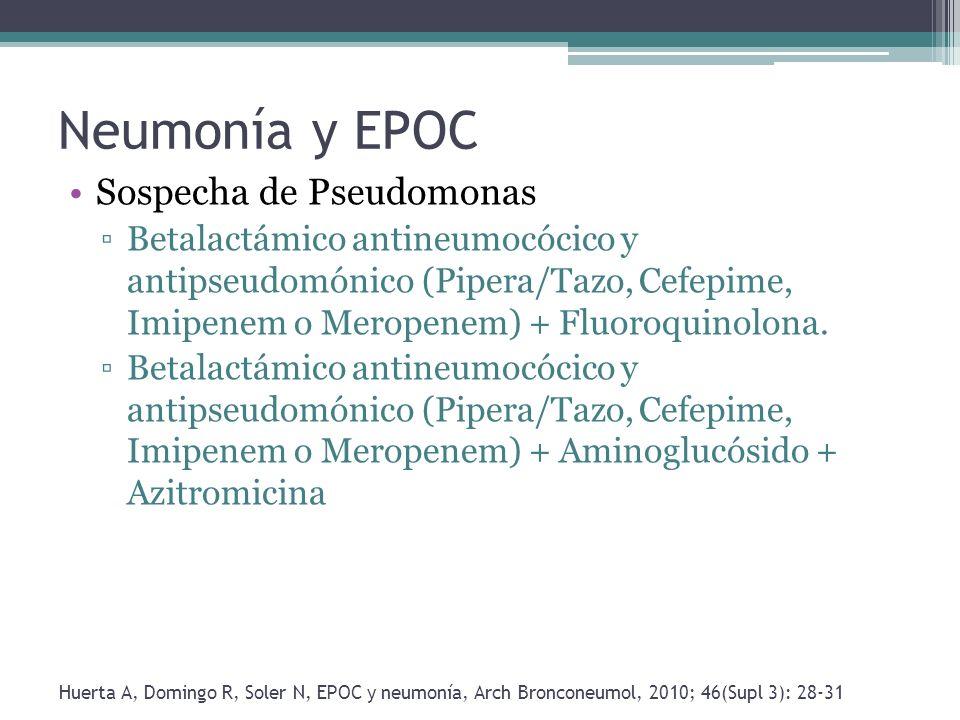 Neumonía y EPOC Sospecha de Pseudomonas