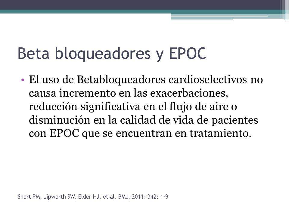 Beta bloqueadores y EPOC