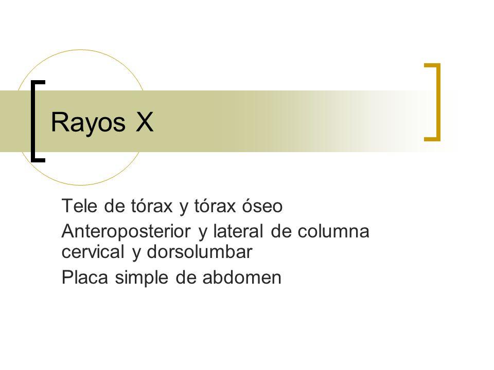 Rayos X Tele de tórax y tórax óseo
