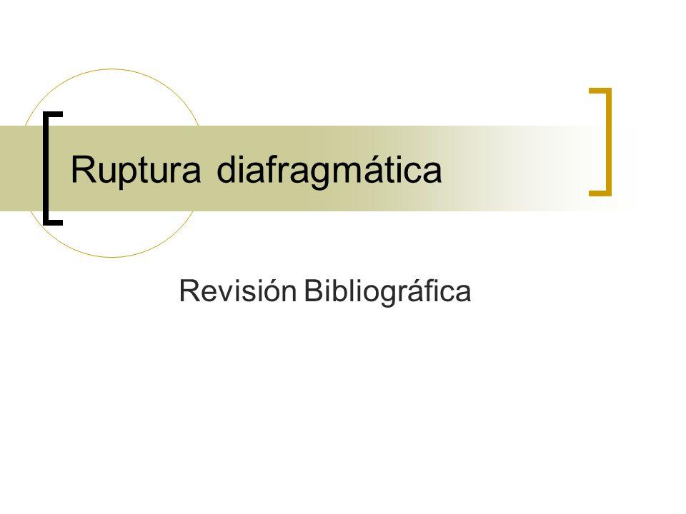 Ruptura diafragmática