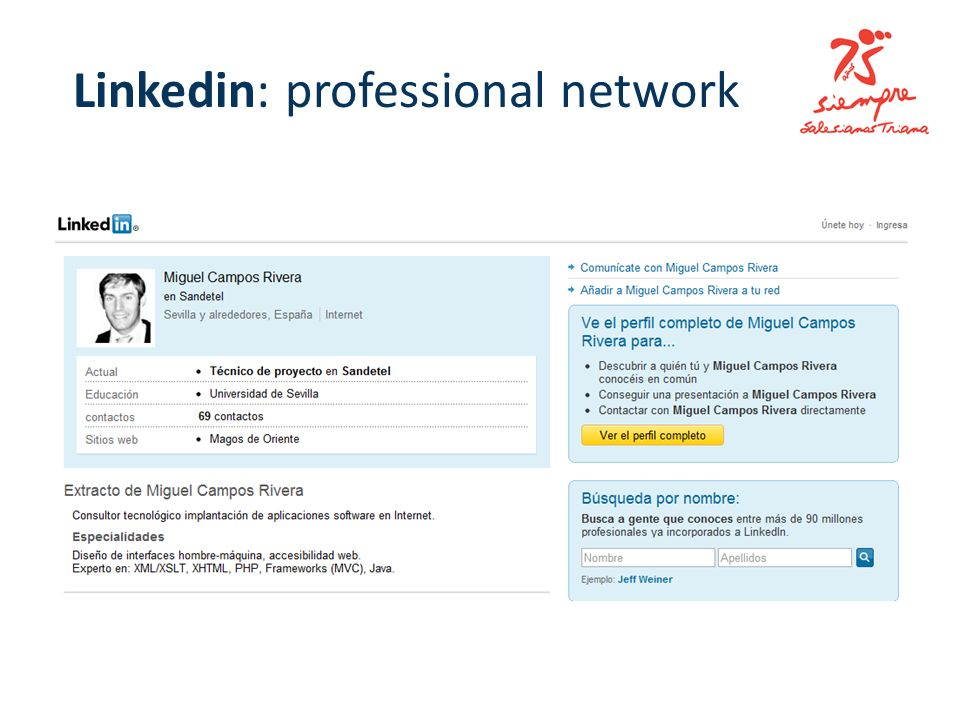 Linkedin: professional network