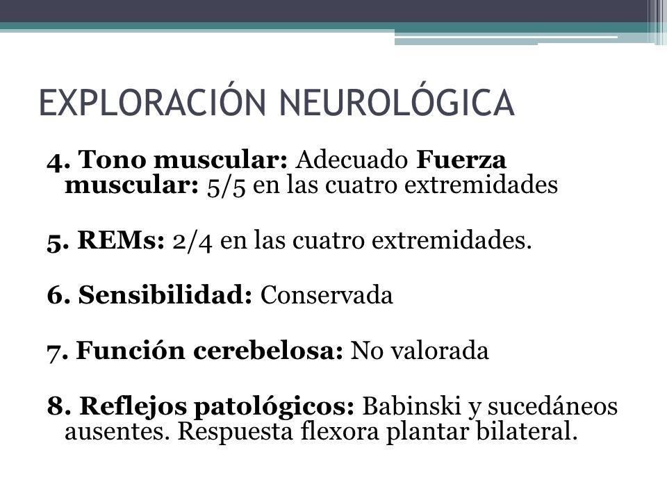 EXPLORACIÓN NEUROLÓGICA