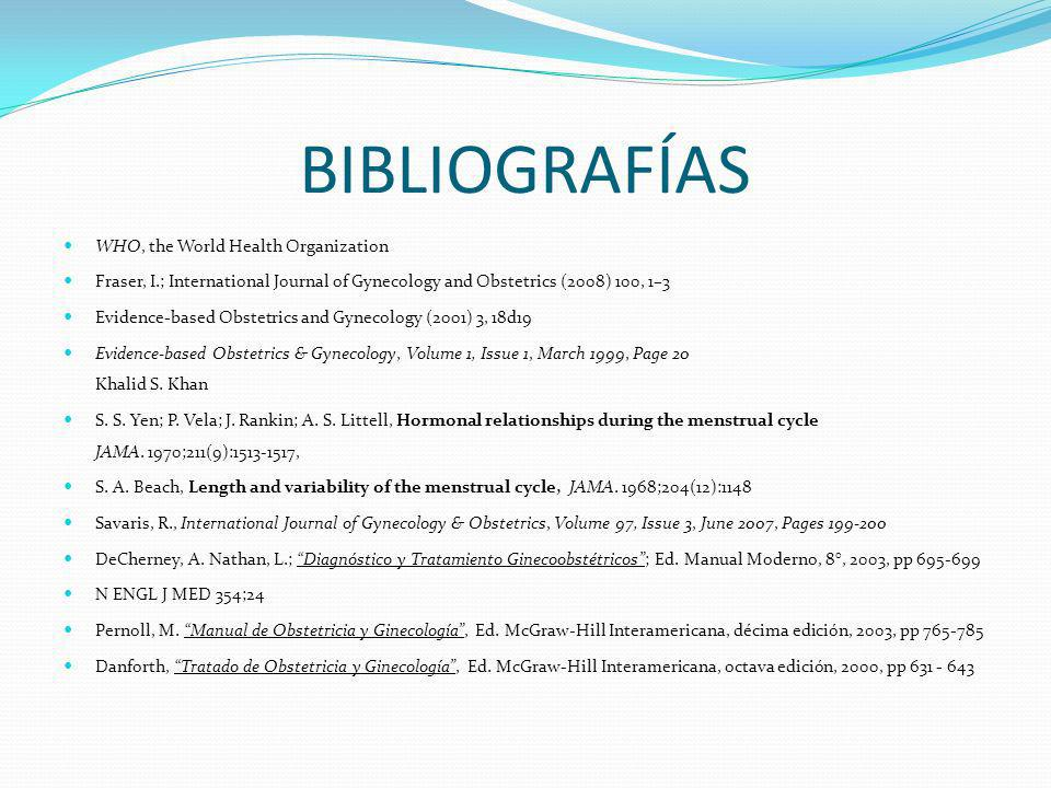 BIBLIOGRAFÍAS WHO, the World Health Organization