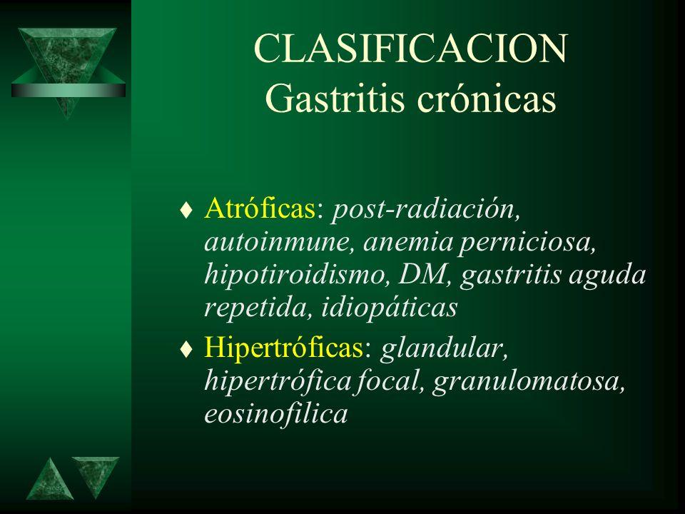 CLASIFICACION Gastritis crónicas
