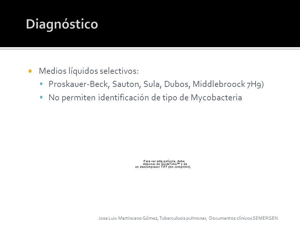 Diagnóstico Medios líquidos selectivos: