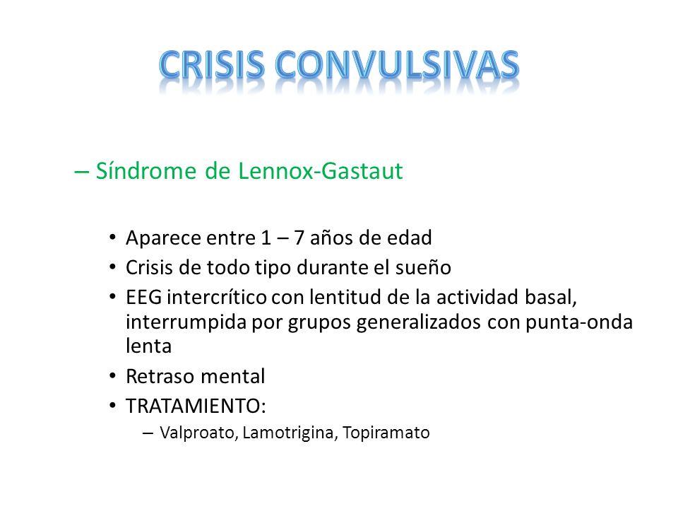 CRISIS CONVULSIVAS Síndrome de Lennox-Gastaut