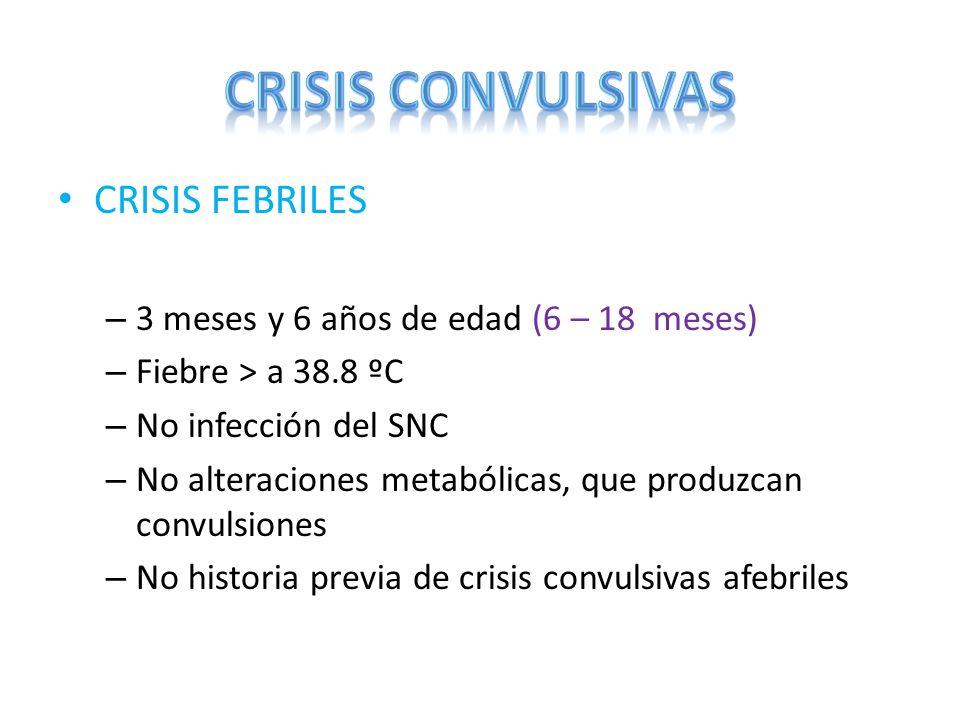 CRISIS CONVULSIVAS CRISIS FEBRILES