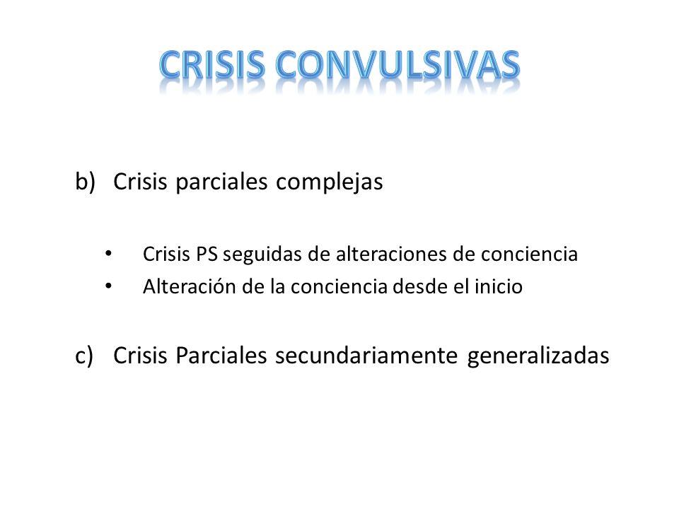 CRISIS CONVULSIVAS Crisis parciales complejas