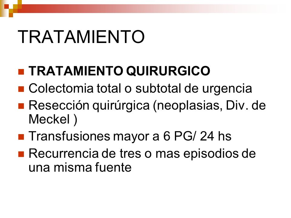 TRATAMIENTO TRATAMIENTO QUIRURGICO