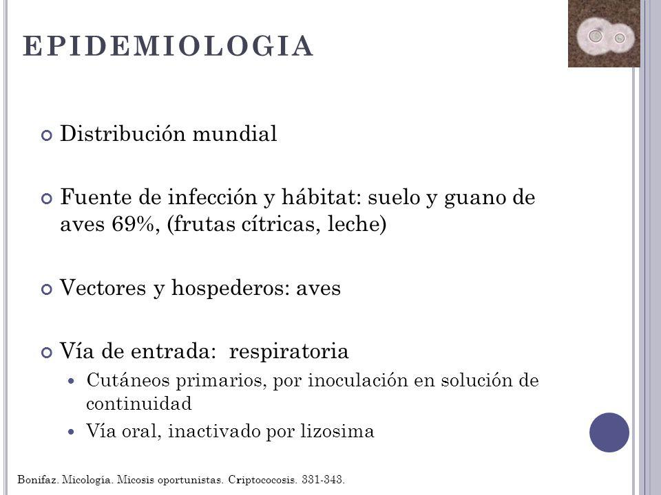 EPIDEMIOLOGIA Distribución mundial