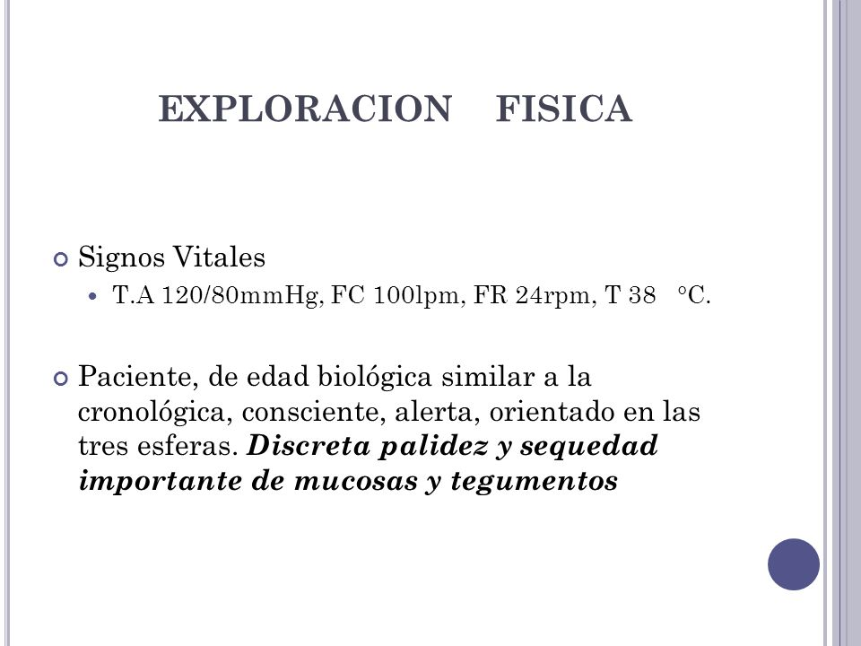 EXPLORACION FISICA Signos Vitales