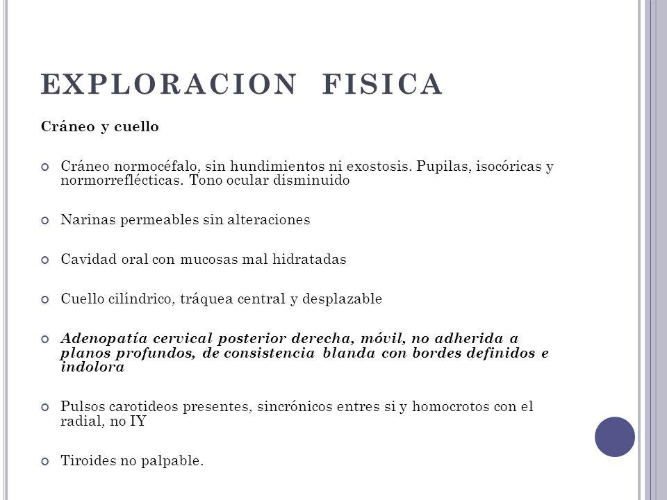 EXPLORACION FISICA Cráneo y cuello